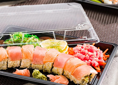 Sushi tray with lid