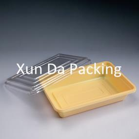 Lunch box with clear lid