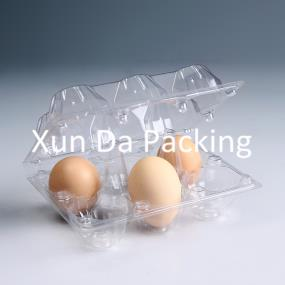 6pcs clear plastic egg packaging tray