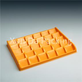 Disposable chocolate packaging tray