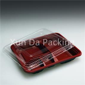 4 compartments fast food container