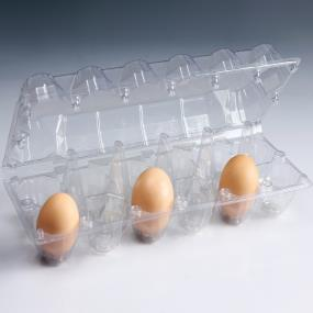 12pcs Clear Plastic Egg Tray