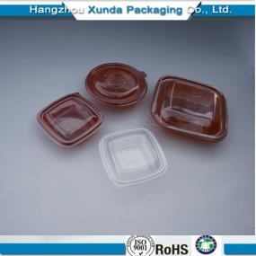 Plastic disposable food container with lid PP/PET/PS