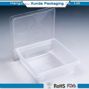 Rectangular disposable plastic food containers with lid