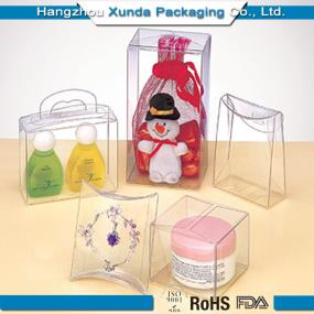 Customized transparent plastic box for gifts