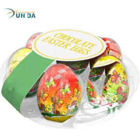 OEM and ODM Acepted Clear Plastic Round Shape Egg Tray for Easter Egg