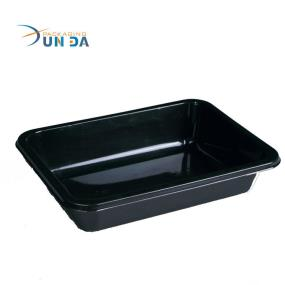 Wholesale High Quality Exqusite Food Grade Black Plastic Meat Tray