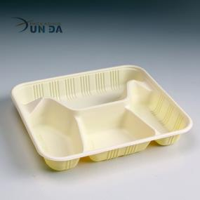 Directly Manufacturing With Plastic BPA Free Food Divided Tray