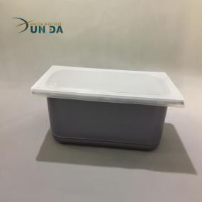 Custom Designed 5L Plastic PP Grey Ice Cream Container With Lid