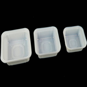 White PP Disposable Plastic Frozen Food Tray For Meat Packing